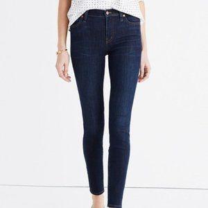 "Madewell 9"" High Riser Skinny Skinny Jeans Dark Wash Size 31"